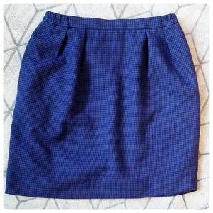 Vintage 90s Houndstooth Skirt - Make An Offer!!